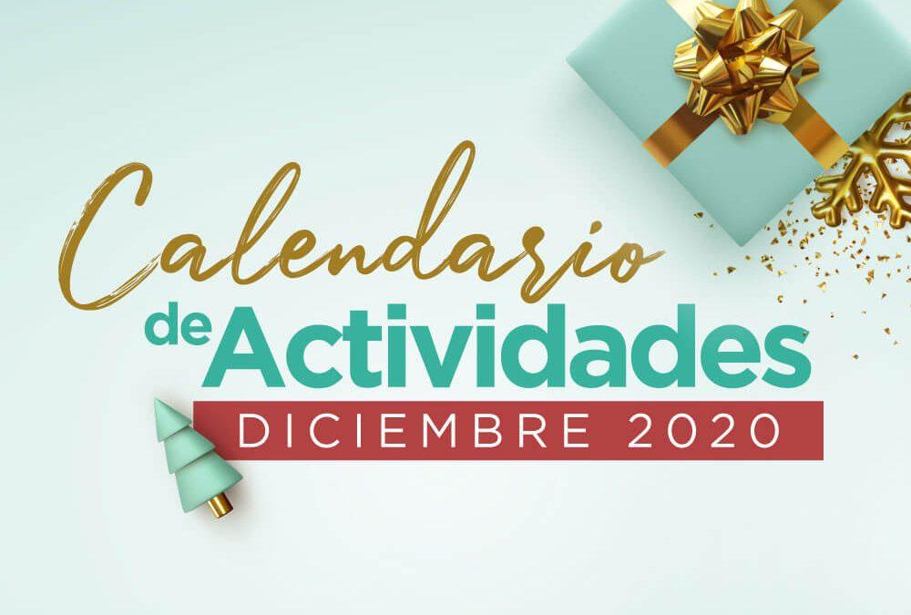 Calendario de actividades Diciembre 2020