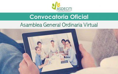 Convocatoria Oficial Asamblea General Virtual