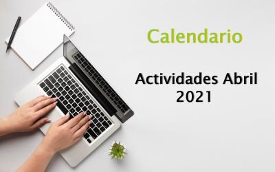 Calendario de Actividades Abril