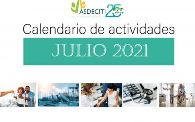 Calendario de Actividades Julio 2021