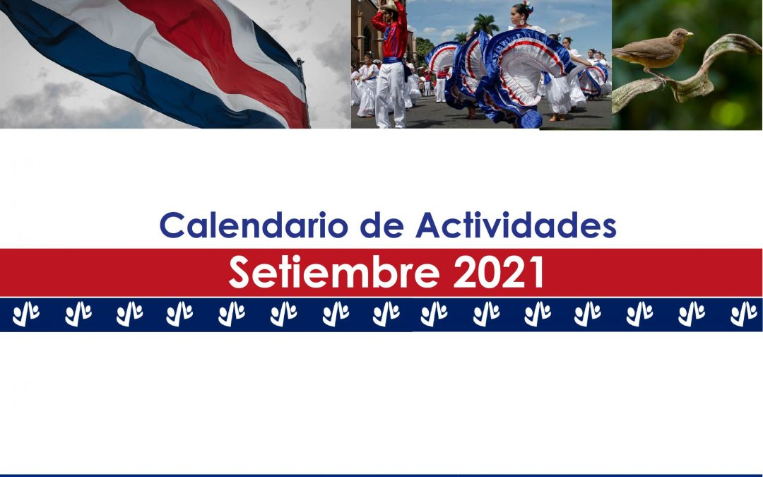 Calendario de Actividades Setiembre 2021
